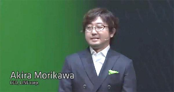 CEOの森川亮さんが冒頭からスピーチ。